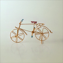 Bicycle made of a single piece of metal wire